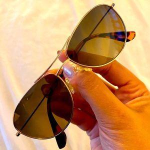 Maui Jim Aviator sunglasses, gold